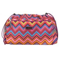 Paradise Fibers Project Bag Hadaki Tote Organizer (2 Sizes) Small / Cassandra Zig Zag - 1