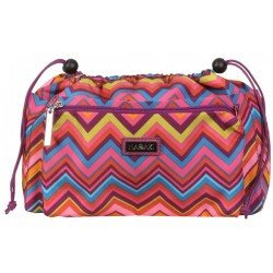 Paradise Fibers Project Bag Hadaki Tote Organizer (2 Sizes) Large / Cassandra Zig Zag - 7