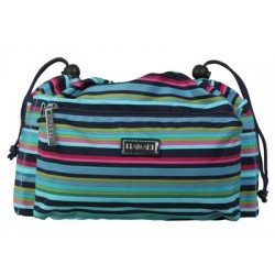Paradise Fibers Project Bag Hadaki Tote Organizer (2 Sizes) Large / Dixie Stripes - 8