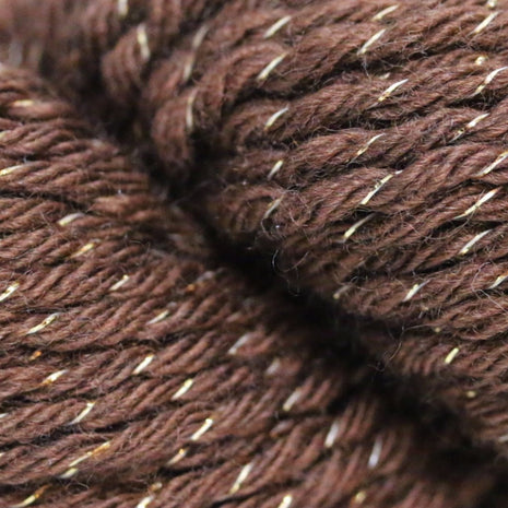 Paradise Fibers Simplicity Metallic Yarn - Brown and Gold