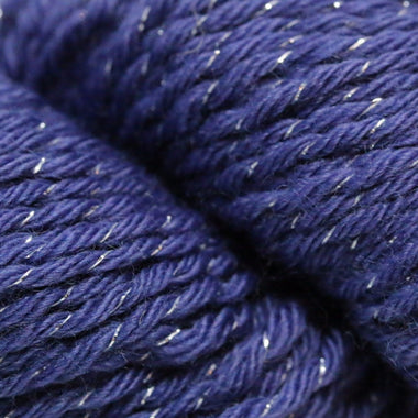 Paradise Fibers Simplicity Metallic Yarn - Periwinkle and Silver