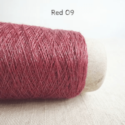 Habu Textiles N-66 Linen Steel Yarn Red 09 - 6