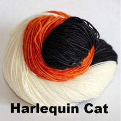 Paradise Fibers Yarn Ancient Arts DK Yarn - Meow Collection Harlequin Cat - 11