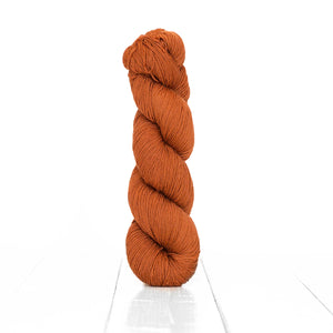 Color Cinnamon, hand-dyed skein of yarn, warm brown color produced from natural cinnamon.