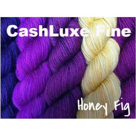 Sweet Georgia Yarns *LIMITED EDITION* Party of Five Mini-Skein Sets CashLuxe Fine / Honey Fig - 2