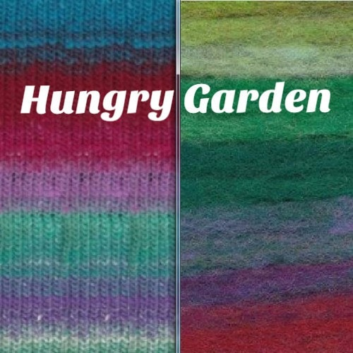 Noro Rainbow Roll Scarf Kit Hungry Garden - 7