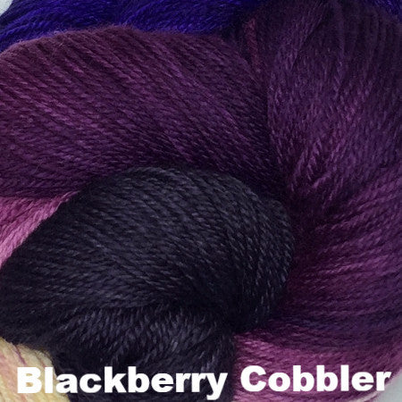 Paradise Fibers Yarn Three Irish Girls Adorn Sock Yarn Blackberry Cobbler - 20