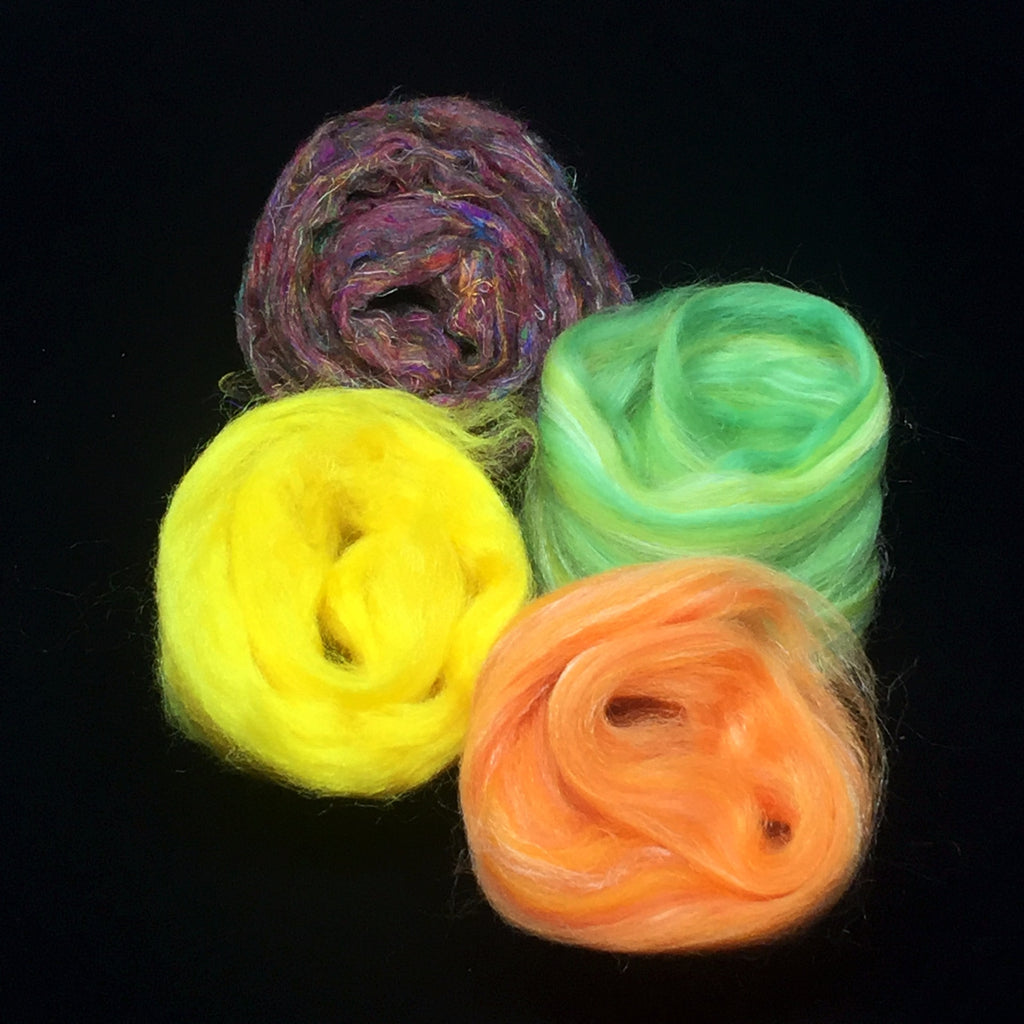 Paradise Fibers Spinzilla 2016 Fiber Packs Scrumptious Silk 01 - 2