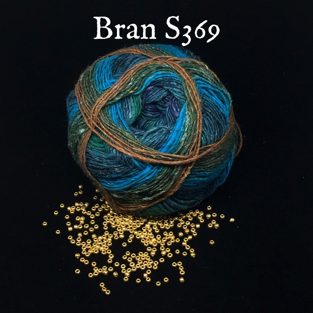 Noro Bandanna Cowl Kit- With Printed Pattern Bran S369 - 2