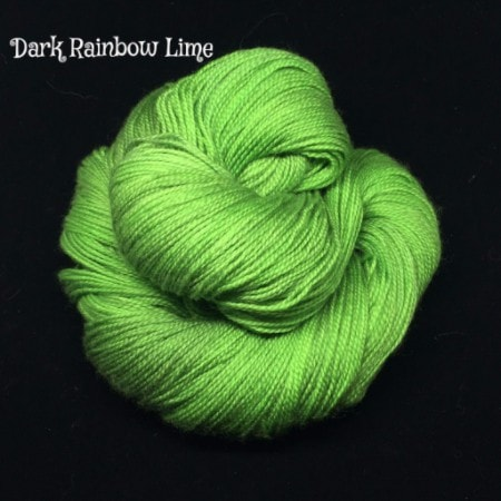 Wonderland Yarns - Cheshire Cat Dark Rainbow Lime - 11
