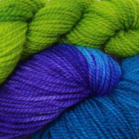 Blueberry Waffle Socks Kit-Yarn-Blue Ridge Yarn Company-Caribbean Cooler 034-Paradise Fibers