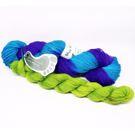 Blueberry Waffle Socks Kit-Yarn-Blue Ridge Yarn Company-Pansies 042-Paradise Fibers