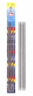 Inox Nickel Plated Steel Lace Double Point 8 inch Knitting Needles-Knitting Needles-0000 (1.25mm)-