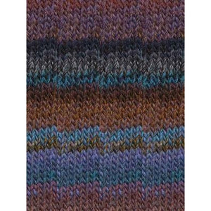 Katia Azteca - Blue, Rust, Brown-Yarn-