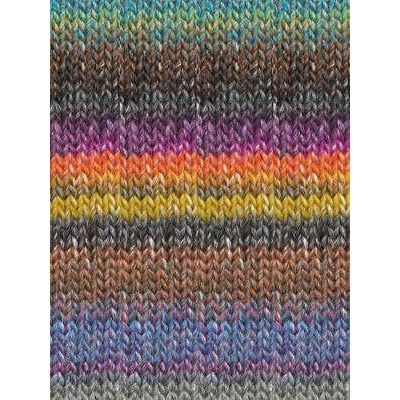 Paradise Fibers Katia Azteca - Charcoal, Fuchsia, Grey, Orange