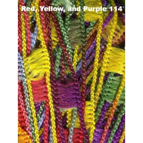 Dazzle Yarn-Yarn-Knitting Fever Inc-Red, Yellow, and Purple-Paradise Fibers