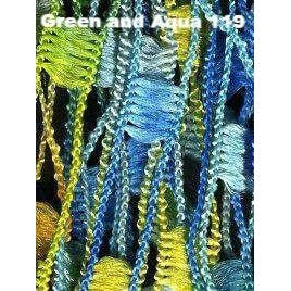 Dazzle Yarn-Yarn-Green and Aqua-