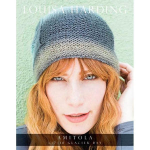 Louisa Harding Amitola Pattern - Glacier Bay Beanie by Grace Akhrem-Patterns-Paradise Fibers