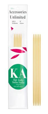 KA Classic Bamboo Double Point 6 inch