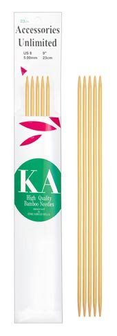 KA Classic Bamboo Double Point 8 inch