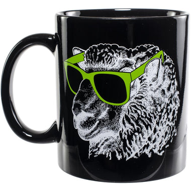 Knit Happy Mug - Sheep in Green Sunglasses-Accessories-Paradise Fibers