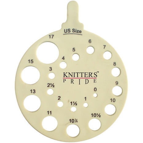 Knitter's Pride Round Needle Gauge-Knitting Accessory-Paradise Fibers