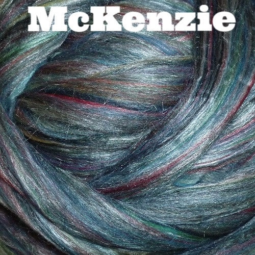 Ashland Bay Multi Merino/ Silk Blend Rovings 4oz / McKenzie - 5