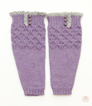 Lace & Button Boot Liners Pattern by Pam Powers Knits-Patterns-