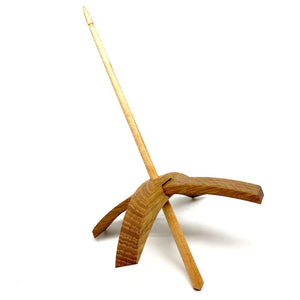 Riley Wood And Fiber Art Turkish Drop Spindle-Spindles-Large (Rift Sawn White Oak with Maple Shaft)-