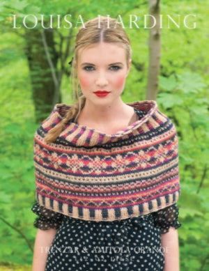 Louisa Harding Liesl Fairisle Cowl Kit with Printed Pattern-Kits-Honey & Winter Rose-