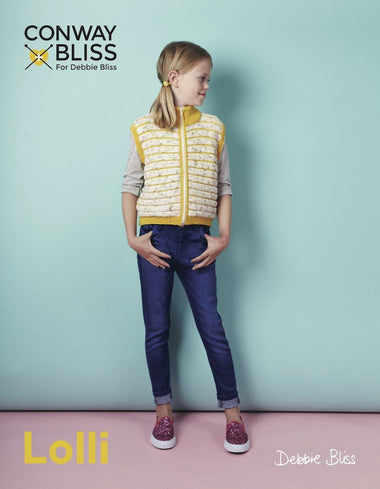 Conway + Bliss for Debbie Bliss Lolli Zip Up Gilet Pattern