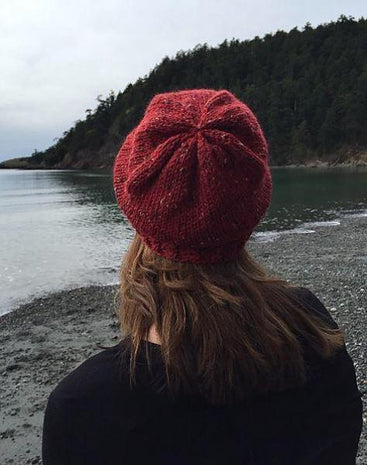 Twist and Slouch Hat Kit featuring Plymouth Homestead Tweed Yarn