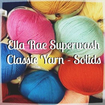 Ella Rae Superwash Classic Yarn - Solids  - 1