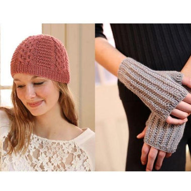 Cuzco Cashmere Cabled Hat & Fingerless Mitts Kit