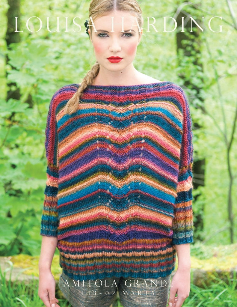 Louisa Harding Marta Striped Poncho Pattern