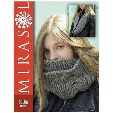 Mirasol Sulka Cabled Cowl Kit-Patterns-Paradise Fibers