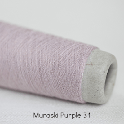 Habu Textiles 20/1 Copper Bamboo Muraski Purple 31 - 3