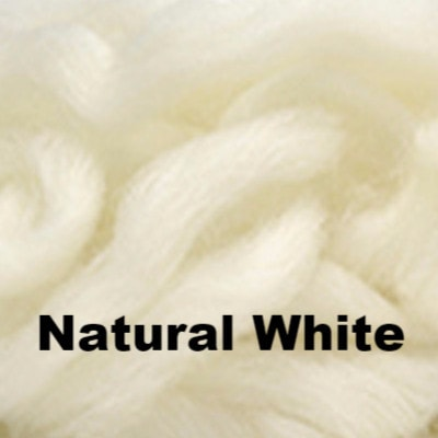 Louet Northern Lights Space Dyed Wool Tops (1/2 lb bags) Natural White - 23