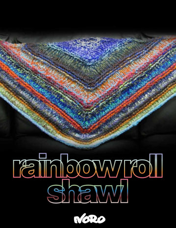 Noro Rainbow Roll Scarf+Throw+Shawl Pattern  - 4