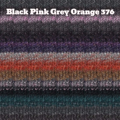 Noro Silk Garden Yarn Black Pink Grey Orange 376 - 20