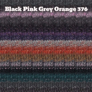 Paradise Fibers Yarn Noro Silk Garden Yarn Black Pink Grey Orange 376 - 20