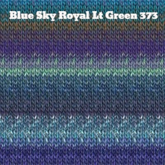 Paradise Fibers Yarn Noro Silk Garden Yarn Blue Sky Royal Lt Green 373 - 18