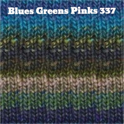 Noro Silk Garden Yarn Blues Greens Pinks 337 - 9