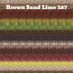 Paradise Fibers Yarn Noro Silk Garden Yarn Brown Sand Lime 387 - 25