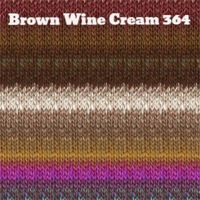 Noro Silk Garden Yarn Brown Wine Cream 364 - 16