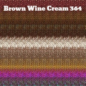 Paradise Fibers Yarn Noro Silk Garden Yarn Brown Wine Cream 364 - 16