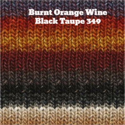 Noro Silk Garden Yarn Burnt Orange Wine Greys Taupe 349 - 11