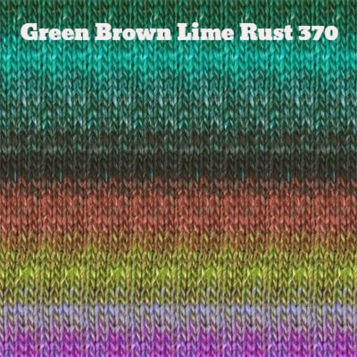 Noro Silk Garden Yarn Green Brown Lime Rust 370 - 17