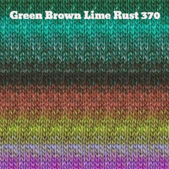 Paradise Fibers Yarn Noro Silk Garden Yarn Green Brown Lime Rust 370 - 17