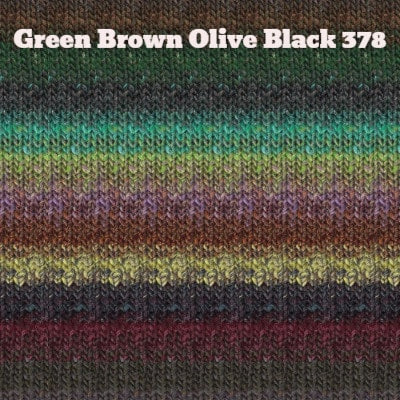 Noro Silk Garden Yarn Green Brown Olive Black 378 - 22